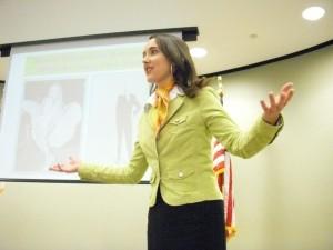 Elizabeth Grace Saunders, Speaking