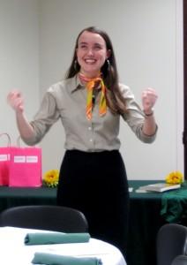 Elizabeth speaking at SWE UNC
