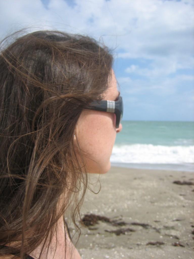 Looking at the Florida coastline